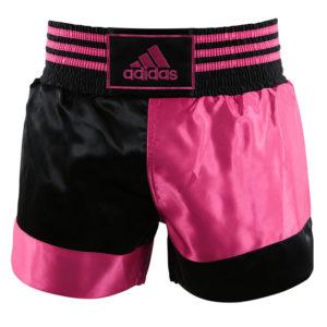 adidas Thai- en Kickboksshort Roze/Zwart Extra Extra Small