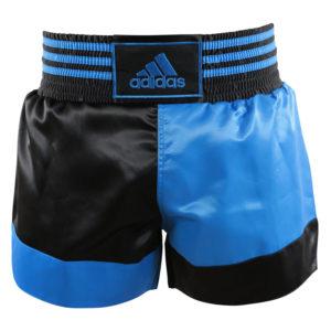 adidas Thai- en Kickboksshort Blauw/Zwart Extra Small