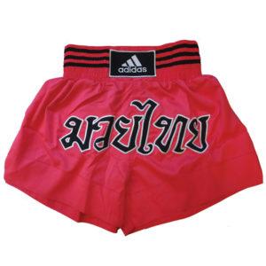adidas Kickboksshort STH02 Shock Red/Zwart