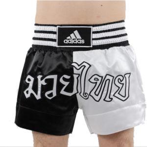 adidas Thaiboksshort Half/Half Zwart/Wit