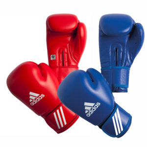 adidas AIBA Amateur bokshandschoenen PU Rood en Blauw